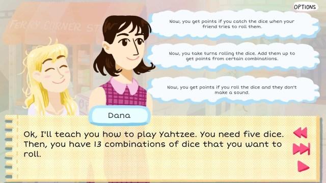 Kimmy game screenshot, Yahtzee