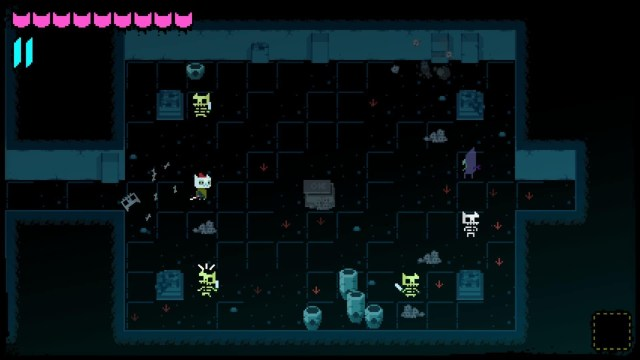 Night in the Woods game screenshot, dungeon crawl mini-game