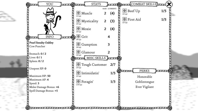 West of Loathing inventory