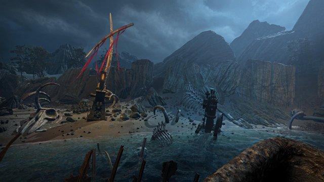 Caligo game screenshot, beach
