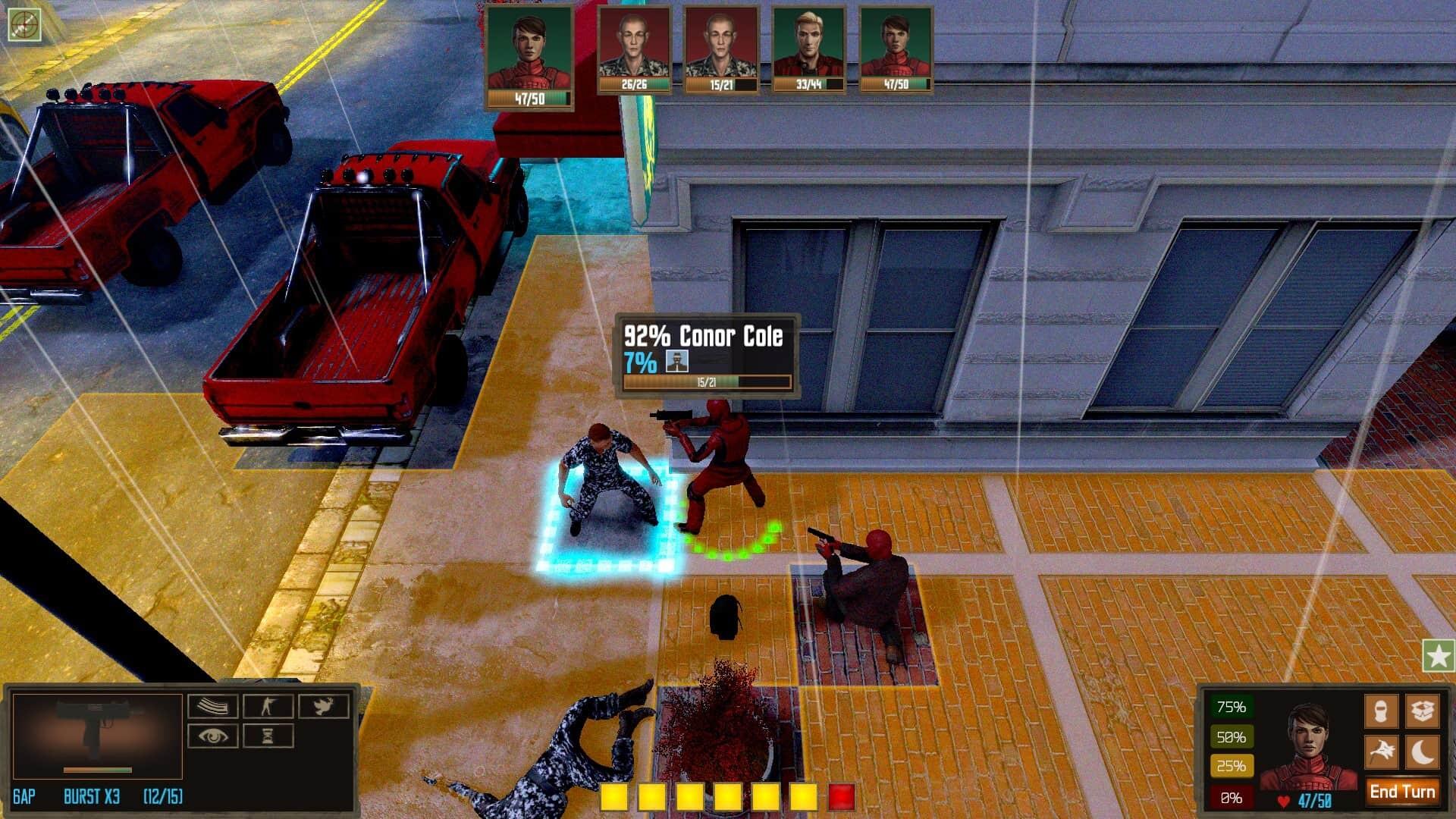 Vigilantes game screenshot, street combat