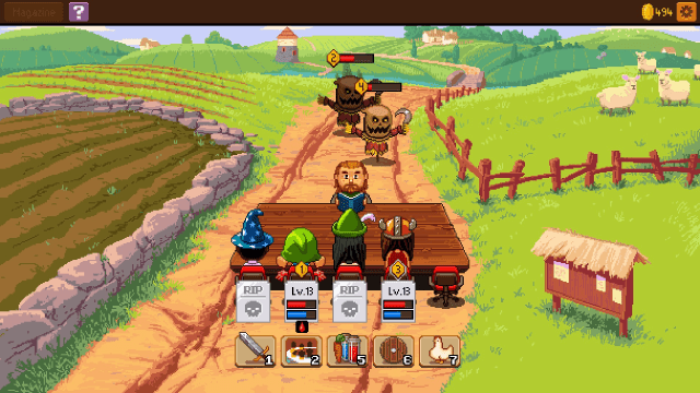 Knights of Pen and Paper 2 Farmland combat