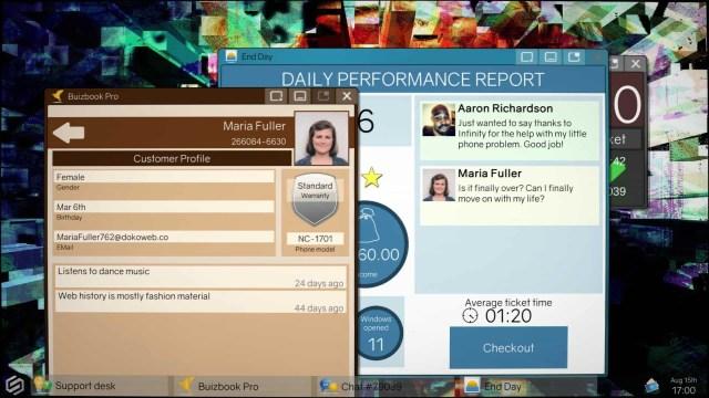 Tech Support: Error Unknown game screenshot, customer profile
