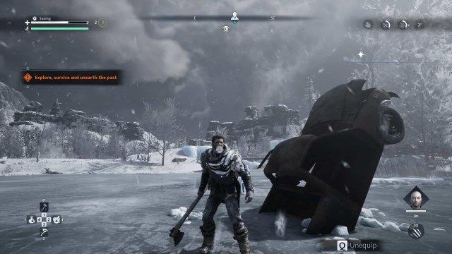 Fade to Silence game screenshot, frozen apocalypse