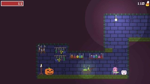 Spooky Ghosts Dot Com game screenshot, mansion basement