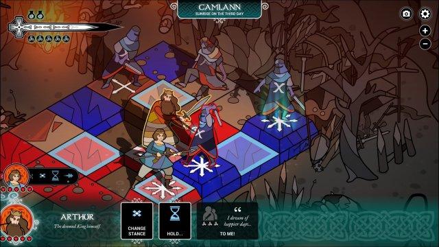 Pendragon game screenshot, battle