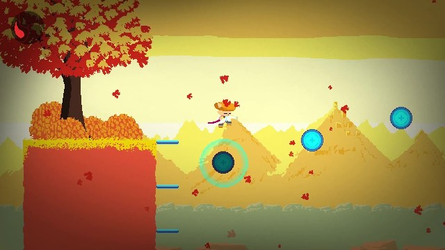 Ato game screenshot, jumping