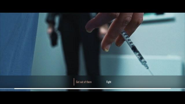 I Saw Black Clouds game screenshot, choice screen