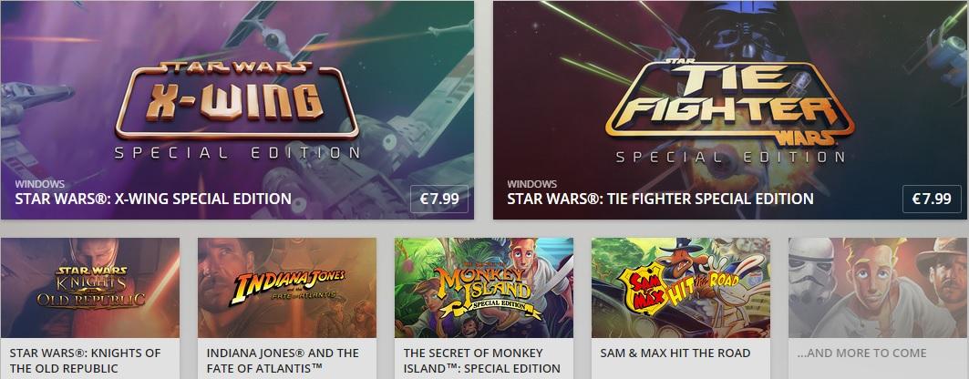 LucasArts Spiele neu auf GOG