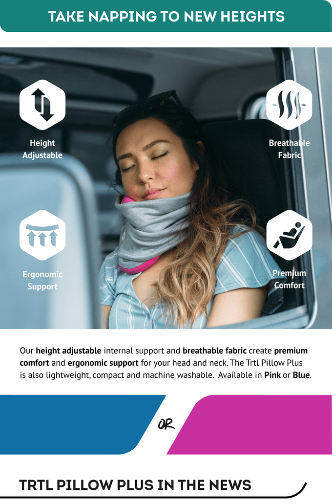 fully adjustable travel pillow