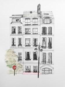 Rue de Paris by Artist Rachel Chansler