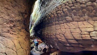 Rocks outside Naka Cave | Photo Credit: Maggie's Journey via www.journeyingtheglobe.com