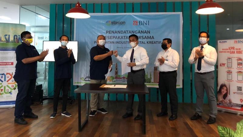 Komunitas STASION resmi berkolaborasi dengan BNI Cabang Malang