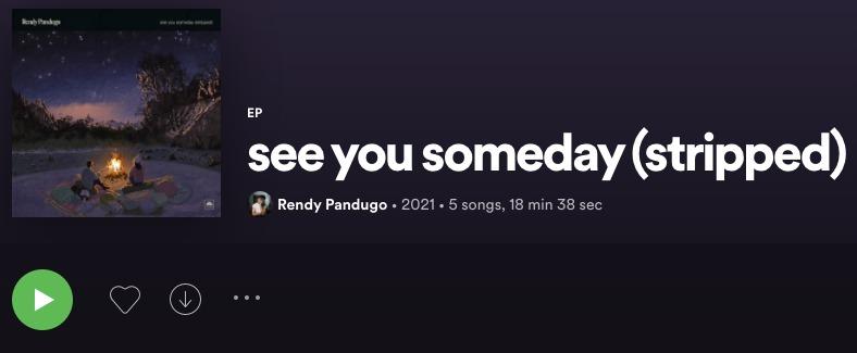 Mengintip See You Someday Stripped Version dari Rendy Pandugo