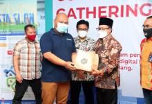 Ketua STASION M. Ziaelfikar Albaba bersama Walikota Malang Drs. H. Sutiaji dalam event Ramah Tamah STASION 2021