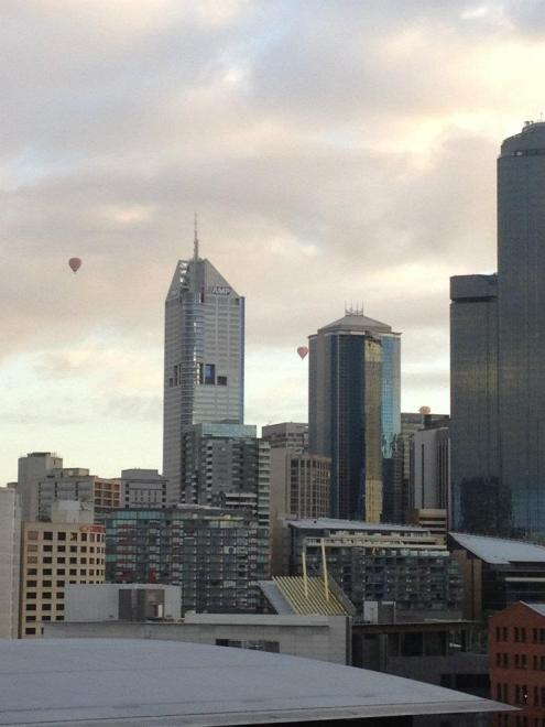 Melbourne morning views - my heart is lodged right here, in between these buildings somewhere