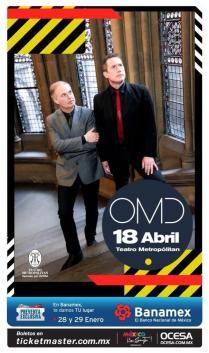 Flyer: OMD en el Teatro Metropolitan
