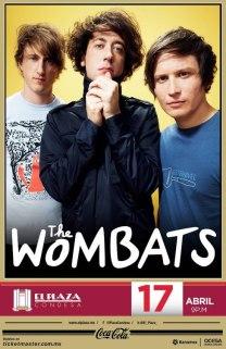 Flyer The Wombats en El Plaza Condesa