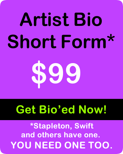 Indie Artist Bio Short Form by IndieMusic Nashville