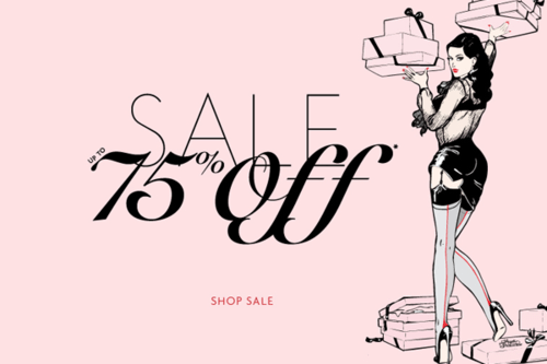 AP 75% sale advert