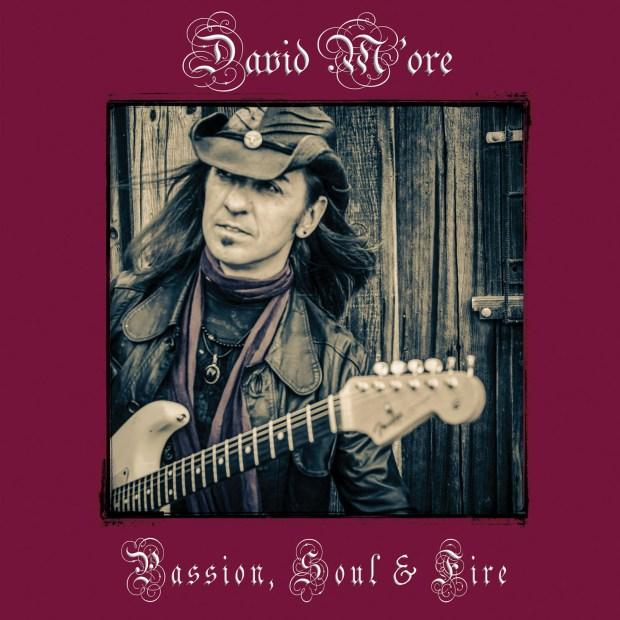 DAVID M'ORE BAND PASSION, SOUL & FIRE CD COVER ART