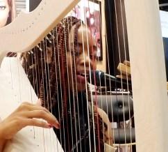 lyrika holme playing at rees harps