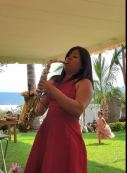 sax at the wedding