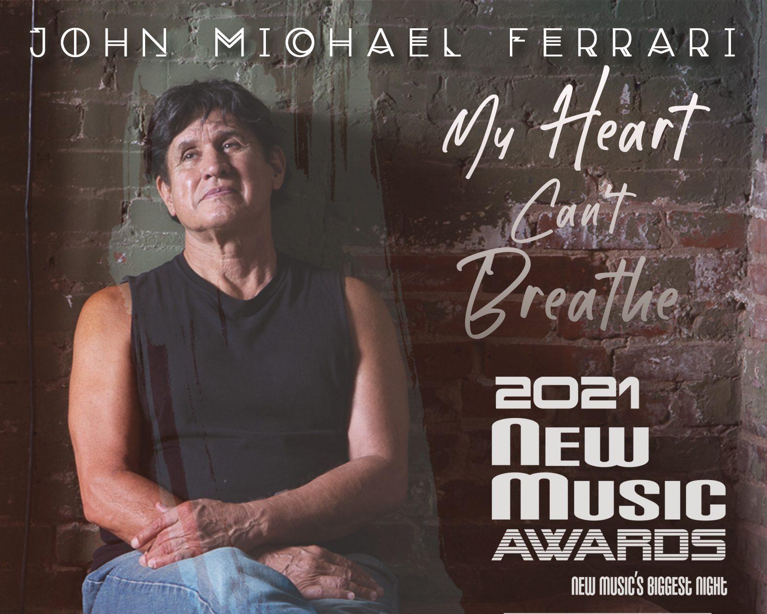 John Michael Ferrari – My Heart Can't Breathe Cover Artworkfor advertising
