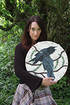 Sharyn Turner with Raven Drum