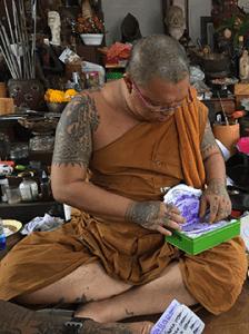 Ajarn Luang Por Heng in his samnak (Thailand)