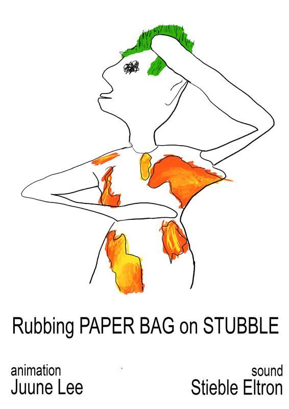 Rubbing Paper Bag on Stubble