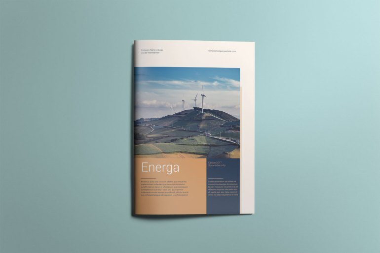 Energa - A4 brochure template cover page