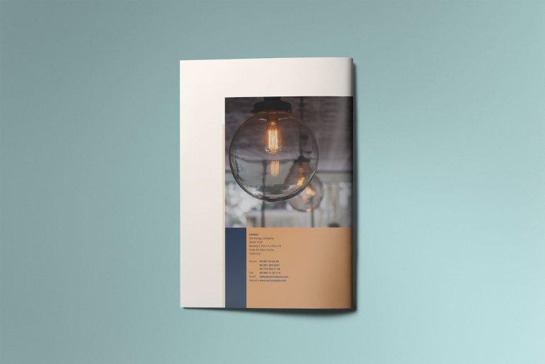Energa - A4 brochure template back cover