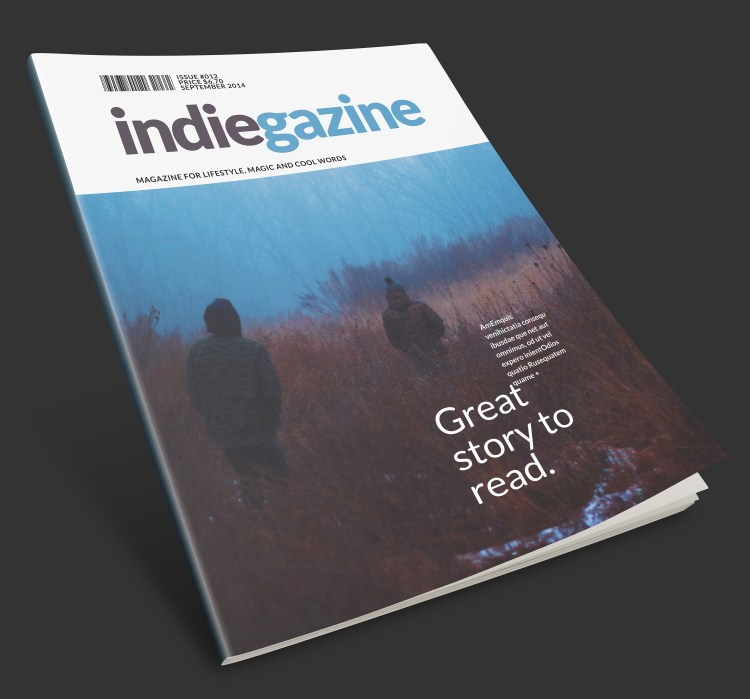 InDesign - Magazine cover template