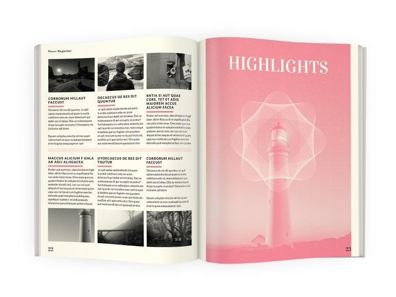 A4 magazine InDesign template download