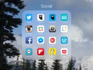 social mobile screen