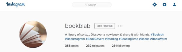 instagram Book Blab