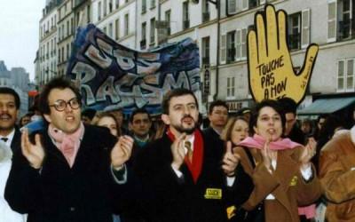 Julien Dray, Jean-Luc Mélenchon et Marie-Noëlle Lienemann défilent contre le racisme