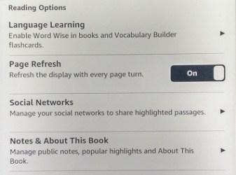 Kindle paperwhite settings
