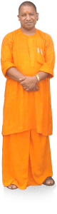 Yogi clad in Saffron-wear