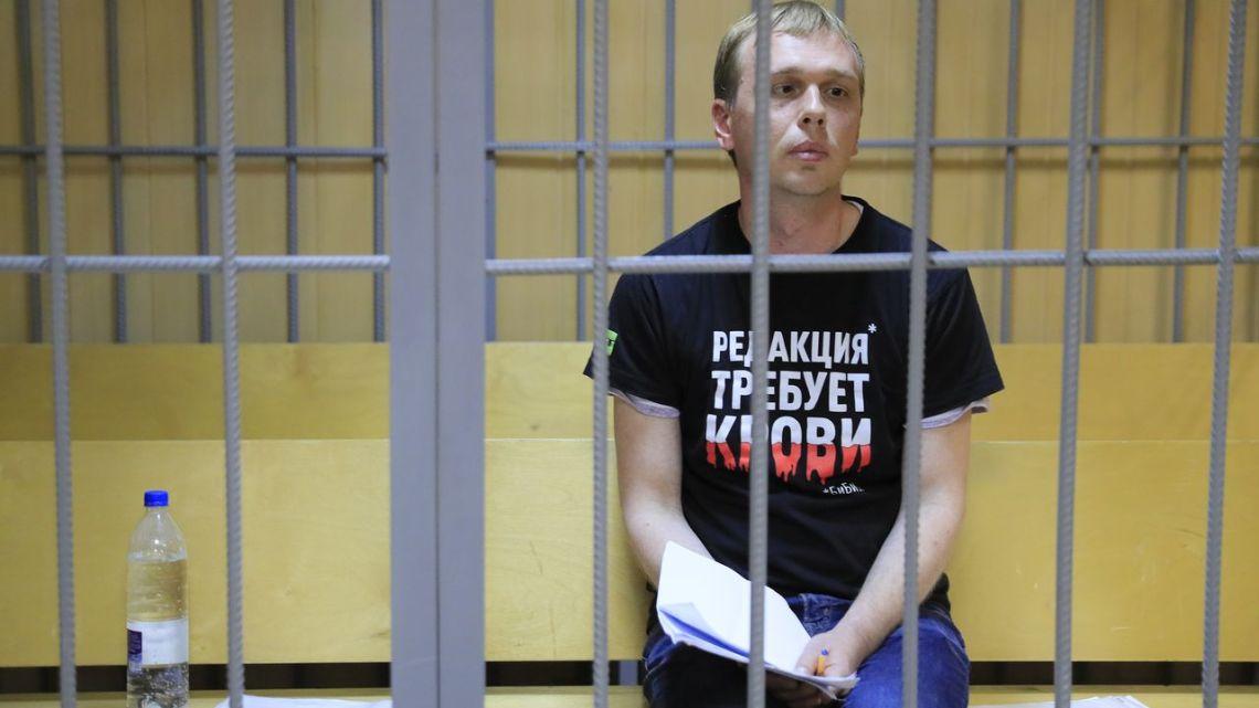 De anti-Kremlin journalistIvan Goloenovwerd in Moskou aangehouden wegens het bezit van drugs