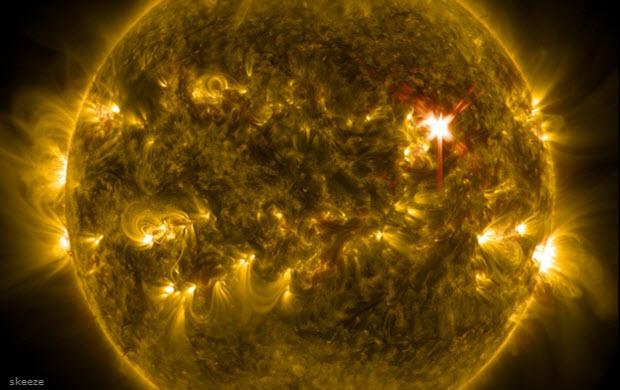 Zeldzame superzonnevlammen zijn mogelijk bedreiging voor de aarde
