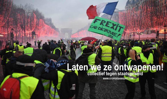 DIT IS DEMOCRATIE IN FRANKRIJK: Voorlopige telling van slachtoffers van gele Hesjes Parijs SCHRIK NIET!