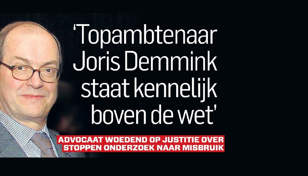 DOOFPOT De VS heeft Epstein, in Nederland hebben we Joris Demmink.