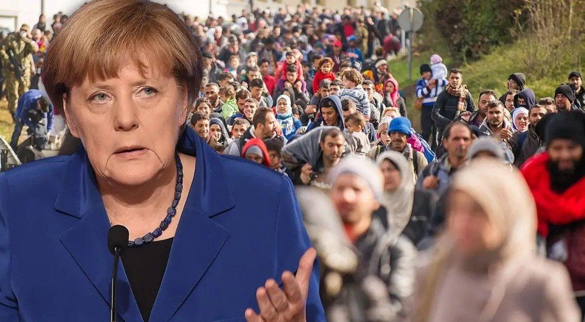 """Merkel ZWIJGT en overspoelt EU met geheime vluchten: Migrantencijfers van Duitse overheid """"top secret"""""""