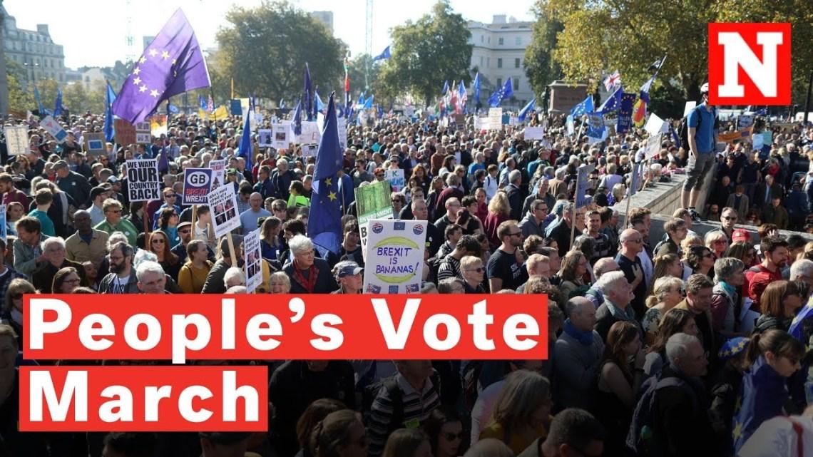 Honderdduizenden in Londen komen staart op om Brexit referendum te eisen