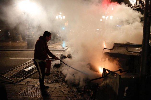 Zesde nacht van Catalonië-protesten
