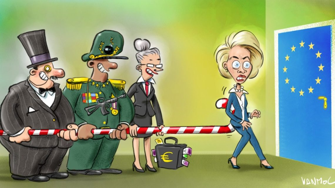 Welkom in de Europese Unie, deDuitseEuropese Unie welteverstaan, voorportaal van het Vierde Rijk