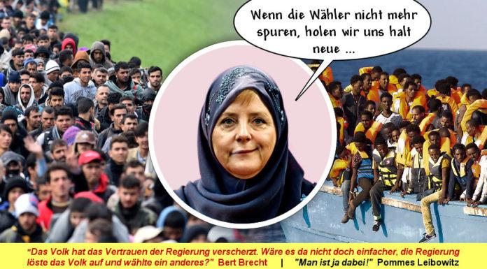 Duitse parlementsleden lachen Angela Merkel uit die zweert de moslimmigrantencriminaliteit en 'rechtsextremisten' te bestrijden