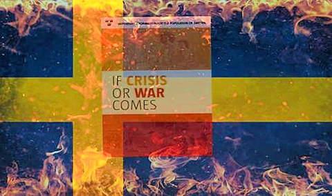 Zweden waarschuwt burger klaar te zijn voor mogelijke oorlog maar de binnenlandse burgeroorlog wordt verzwegen